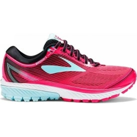 Brooks Ghost 10 Womens B (STANDARD WIDTH) Road Running Shoes Diva Pink/Black/Iceland Blue