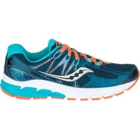 Saucony Jazz 18 Road Running Shoes Teal/Orange Womens
