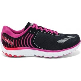 Brooks PureFlow 6 Womens B (STANDARD WIDTH) Road Running Shoes Black/RoseViolet/Bittersweet