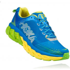 Hoka Arahi Mens Road Running Shoes Blue Aster/Blazing Yellow