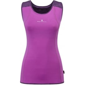 Ronhill Infinity Cargo Running Vest/Tank Top Womens Purple Thistle