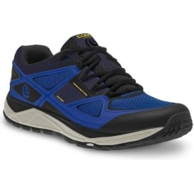 Topo Terraventure Mens Low Drop & Wide Toe Box Trail Running Shoes Blue/Black