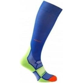 Hilly Pulse Compression Sock Cobalt/Green/Orange