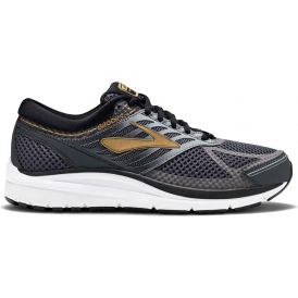 Brooks Addiction 13 Mens D STANDARD WIDTH Road Running Shoes Black/Ebony/Metallic Gold