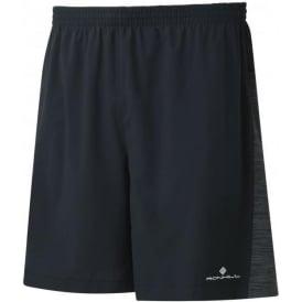 "Ronhill Mens Momentum Twin 7"" Running Shorts Black/Charcoal Marl"