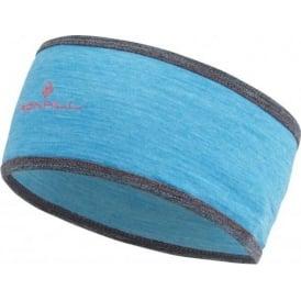 Ronhill Merino Running Headband Deep Cyan Marl