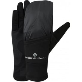 Ronhill Wind-block Flip Running Gloves (with Mitten) All Black