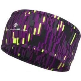 Ronhill Printed Running Headband Grape Glitch