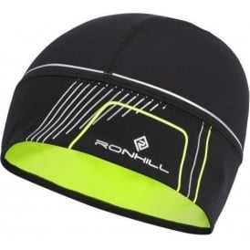 Ronhill Run Beanie Black/Fluo Yellow