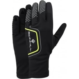Ronhill Running Gloves Black/Fluo Yellow