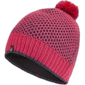 Ronhill Bobble Hat Hot Pink/Charcoal