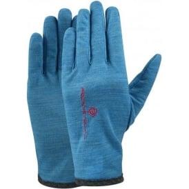 Ronhill Merino Running Gloves Deep Cyan Marl