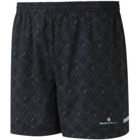 """Ronhill Mens Momentum 5"""" Running Shorts Granite Hex Print"""