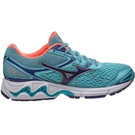 Mizuno Wave Inspire 13 Womens Road Running Shoes Blue Radiance/Blueprint