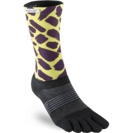 Injinji Socks Trail Midweight Crew Womens Running Toe Socks - Wild Fur