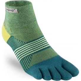 Injinji Socks Trail Midweight Mini-Crew Womens Running Toe Socks - Parakeet