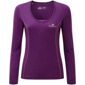 Ronhill Stride Womens Running Long Sleeve T-shirt Purple or Blue