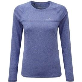 Ronhill Everyday Womens Long Sleeve Running T-shirt Dark Sapphire Marl
