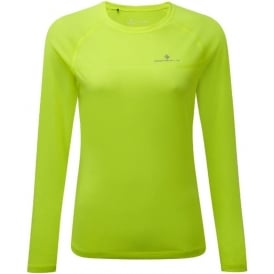 Ronhill Everyday Womens Long Sleeve Running T-shirt Fluorescent Yellow