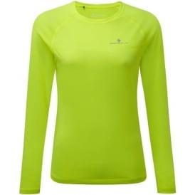 Ronhill Everyday Womens Long Sleeve Running T-shirt Fluorescent Yellow