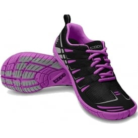 Topo ST Womens Low Drop & Wide Toe Box Road Running Shoes Black/Grape