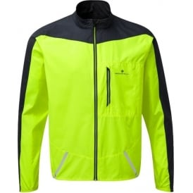 Ronhill Stride Windspeed Mens Wind Proof Running Jacket Fluo Yellow/Charcoal