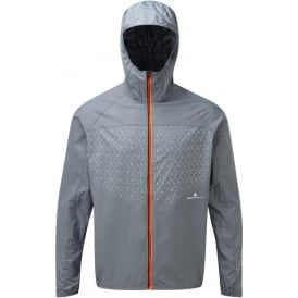 Ronhill Momentum Sirius Mens Running Jacket Granite/Fluo Orange