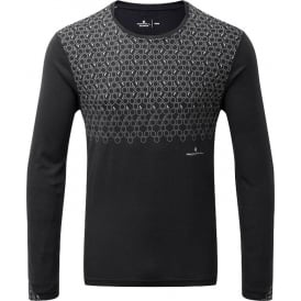 Ronhill Momentum Sirius Mens Long Sleeved Running T-shirt Black