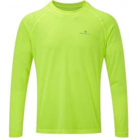Ronhill Everyday Mens Long Sleeved Running T-shirt Fluo Yellow