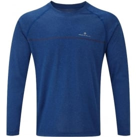 Ronhill Everyday Mens Long Sleeved Running T-shirt Cobalt Marl
