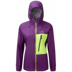 Ronhill Trail Torrent Womens Running Jacket Graoe Juice/Fluo Yellow