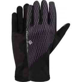 Ronhill Wind-block Glove Black/Grape Juice