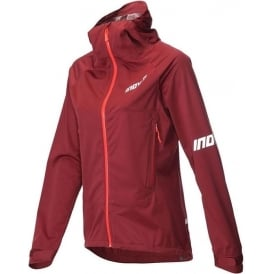 Inov8 AT/C Raceshell Full Zip Womens Running Jacket Dark Red/Coral