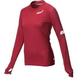 Inov8 AT/C Long Sleeve Womens Running Base Layer Dark Red