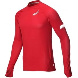 Inov8 AT/C Long Sleeve Mens Running Base Layer Dark Red