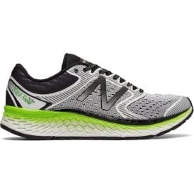 New Balance 1080 v7 Mens D STANDARD WIDTH Road Running Shoes White/Energy Lime