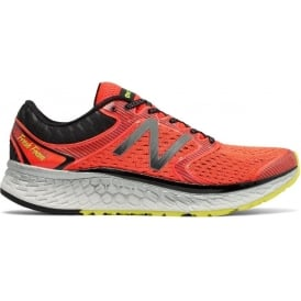 New Balance 1080 v7 Mens D STANDARD WIDTH Road Running Shoes Alpha Orange/Hi-Lite