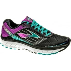 Brooks Ghost 9 Womens B STANDARD WIDTH Road Running Shoes Black/Purple
