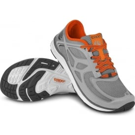 Topo Mens ST-2 0mm Drop & Wide Toe Box Road Running Shoes Grey/Orange