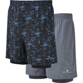 "Ronhill Momentum Twin 5"" Mens Lightweight & Breathable Running Shorts"
