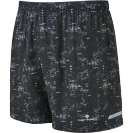 "Ronhill Momentum 5"" Mens Lightweight & Sweat Wicking Running Shorts Black/Grey Bokeh"