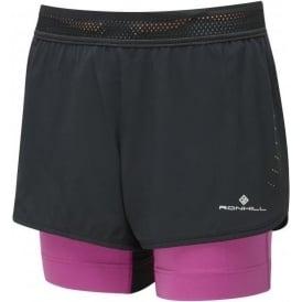 Ronhill Infinity Marathon Womens Running Shorts with Lyrcra Inner Short & Energy Gel Pockets