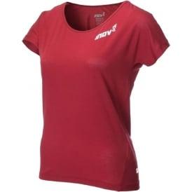Inov8 Dri Release Short Sleeve Tee Dark Red Womens