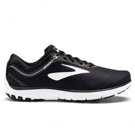 Brooks Pure Flow 7 Womens B STANDARD WIDTH Cushioned Road Running Shoes Black/White