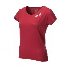 Inov8 AT/C Dri Release Womens Quick Drying Short Sleeve T-shirt Dark Red