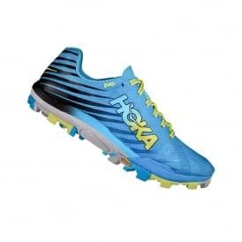 Hoka Evo Jawz Mens Fell Running Shoes Blue/Yellow