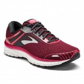 Brooks Adrenaline GTS 18 B WIDTH STANDARD Road Running Shoes Pink/Black/White Womens