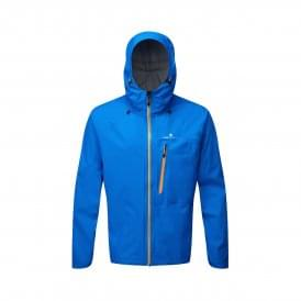 Ronhill Infinity Torrent Mens Fully Waterproof Running Jacket Electric Blue/Jaffa