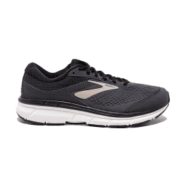 Brooks Dyad 10 Mens 2E WIDE FIT Lightweight Cushioned Road Running Shoes Black/Gold