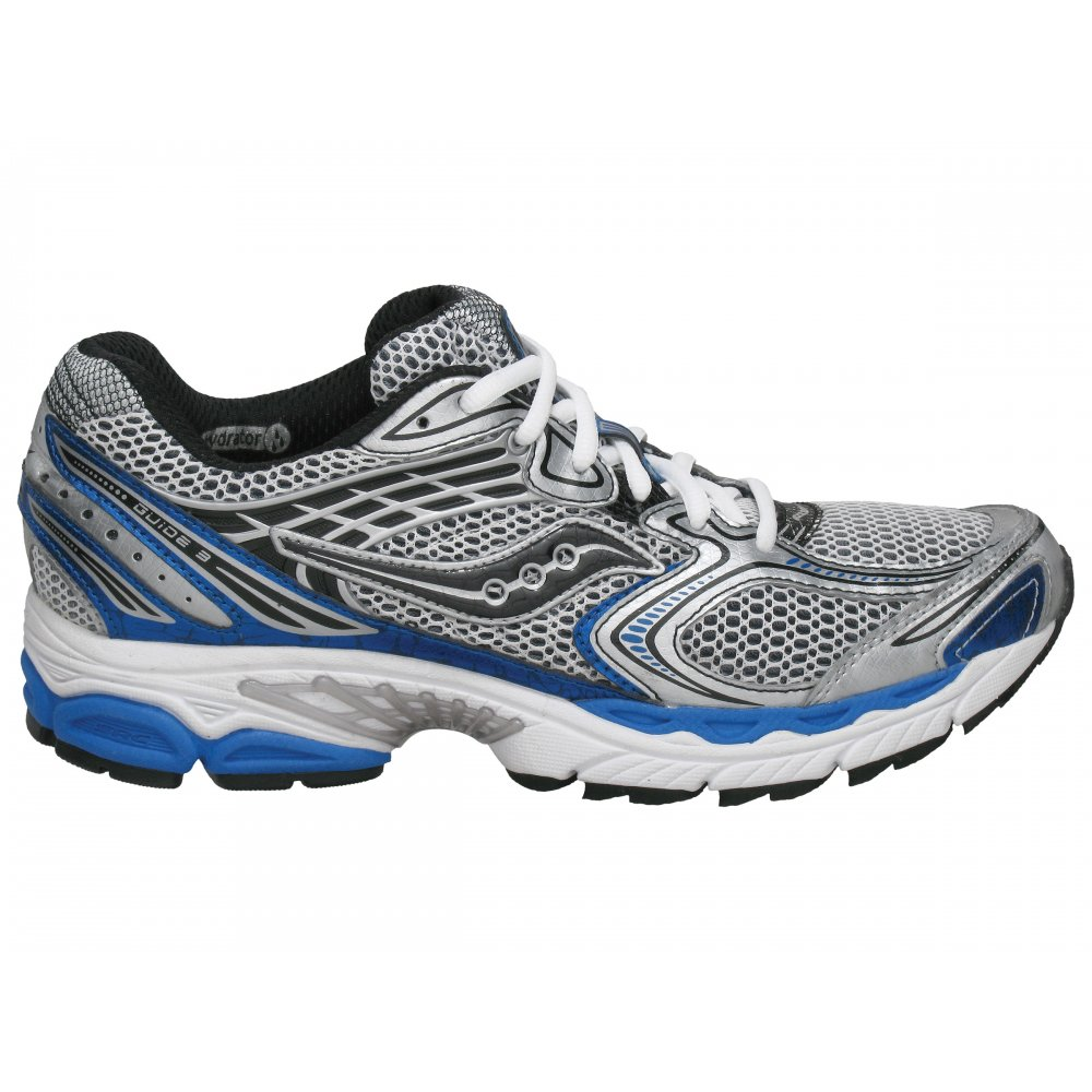 Saucony ProGrid Guide 3 Mens Road Running Shoes White/Blue
